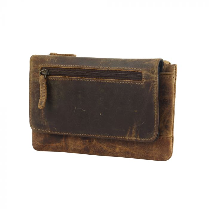 OAK FIRE  LEATHER AND HAIRON WALLET