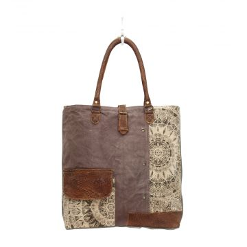 Flower Design Canvas Tote Bags