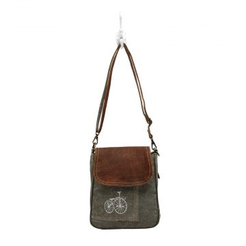 By-cycle print Shoulder Bag