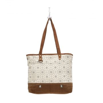 FERRIS WHEEL PRINT CANVAS TOTE BAG