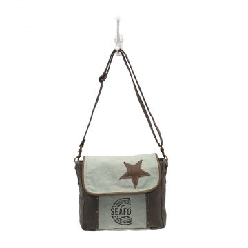 """STAR ON CANVAS"" SHOULDER BAG"