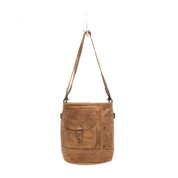 FLAP POCKET LEATHER SHOULDER BAG