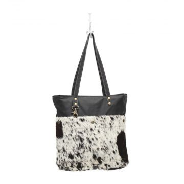BLACK SHADES HAIR-ON TOTE BAG