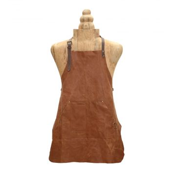 BROWN LEATHER APRON