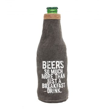"""JUST A BREAKFAST DRINK"" BEER PINT HOLDER"