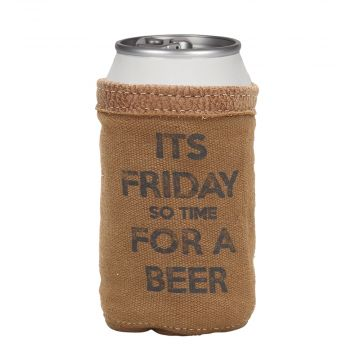 ITS FRIDAY BEER CAN HOLDER