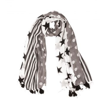 DOTS WITH STARS SCARF