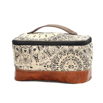 FLOWER DESIGN SHAVING KIT BAG