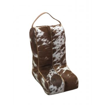 Brown & White Boot Bag