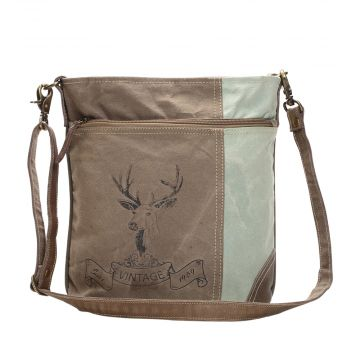 REINDEER PRINT SHOULDER BAG