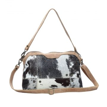 DUAL STRAP HAIRON CROSS BODY BAG