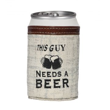 THIS GUY NEEDS A BEER CAN HOLDER