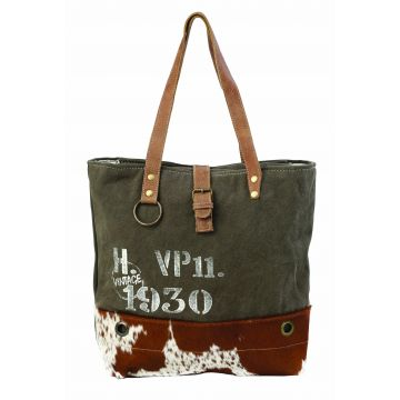 VINTAGE 1930 CANVAS TOTE BAG