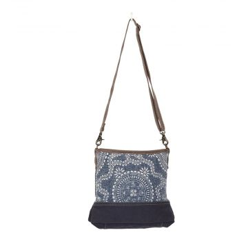 Navy Kilim Shoulder Bag