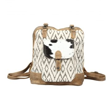 Amber Hairon pocket backpack bag