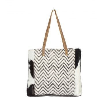 Chevron Cross Design tote bag