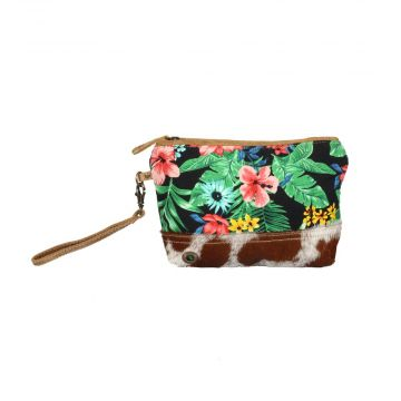 Flower tapesty pouch