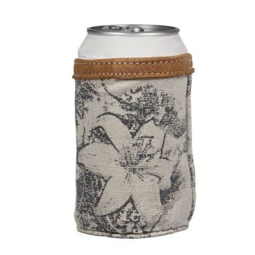 FLOWER TAPESTY CAN HOLDER