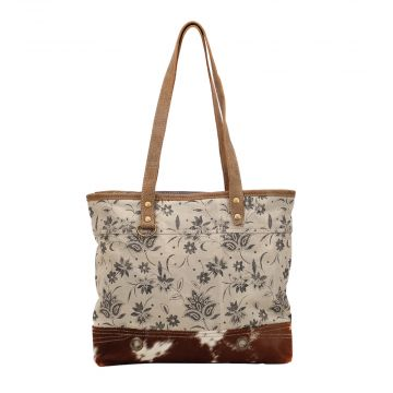PETAL PRINT CANVAS TOTE BAG