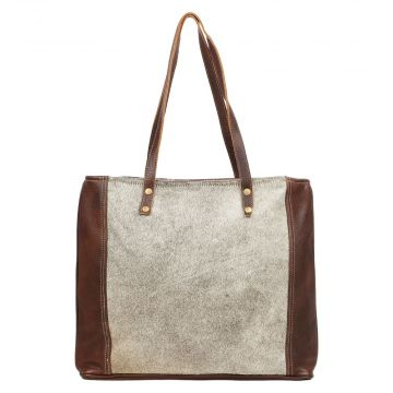 SILVERED TOTE BAG