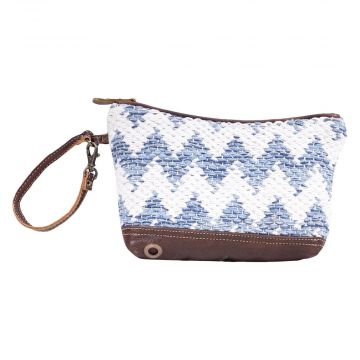 BLUE CROSSOVERS POUCH