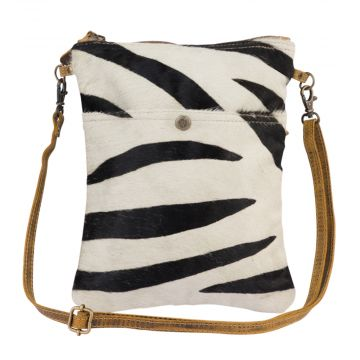 Stripey Leather Crossbody Bag