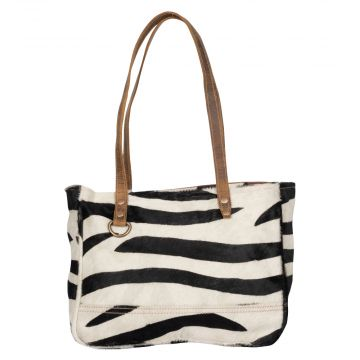 Stripey Eloquence  Hairon Small Bag