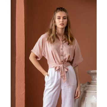 Peach Vegetable dyed shirt