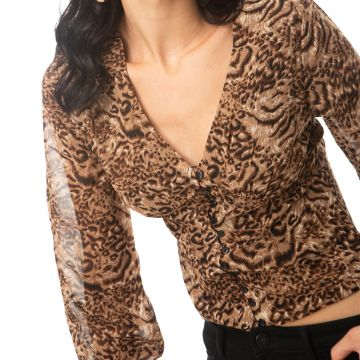 Leopard Ador Crop Top