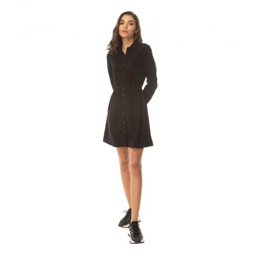 Black Gale Button Dress