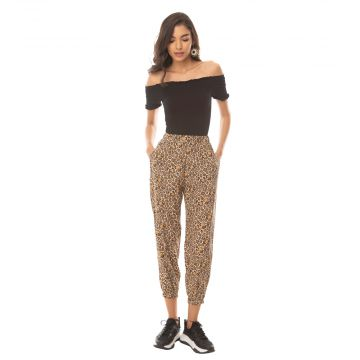 Leopard Bling Buttery Joggers