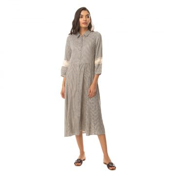 Charm-olived Buttoned Dress