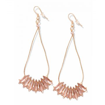 Pink sparklers earring
