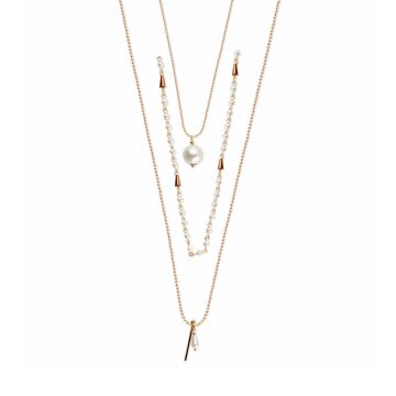 Crisp Pearl Layered Necklace
