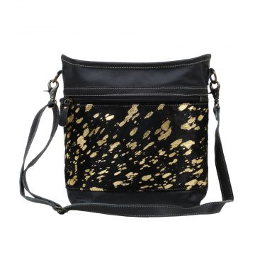 GOLDEN BEACONS  LEATHER AND HAIRON BAG