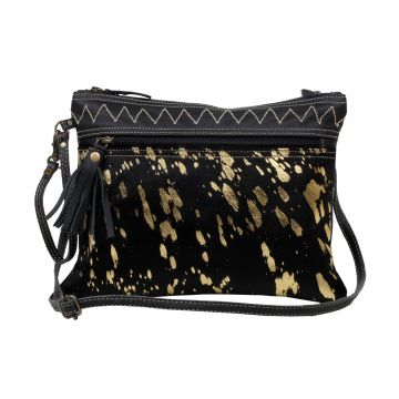 MURKY LEATHER AND HAIRON BAG