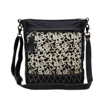 NAIVE  LEATHER AND HAIRON BAG