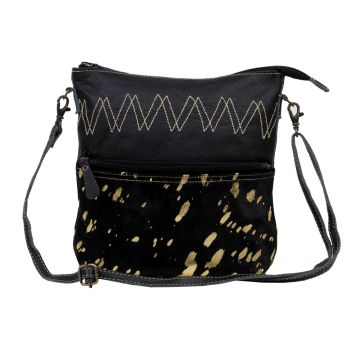 COMPOSE LEATHER AND HAIRON BAG