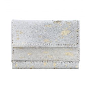 GOLDEN MARBLE  LEATHER AND HAIRON WALLET