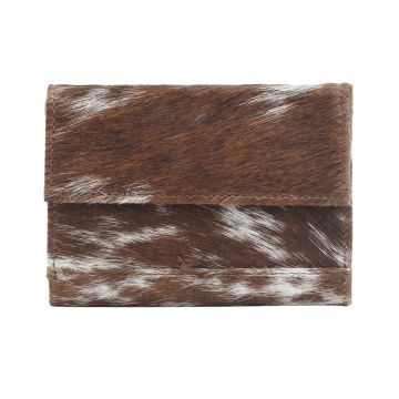 DUSTY WUSTY LEATHER AND HAIRON WALLET