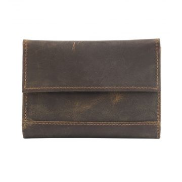 OUT OF THE WOODS  LEATHER AND HAIRON WALLET