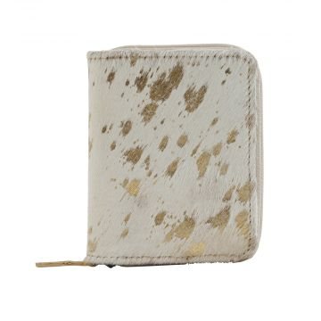 SNEAKY GOLDEN  LEATHER AND HAIRON WALLET