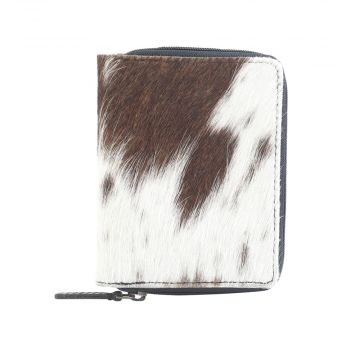 FURRY FAB LEATHER AND HAIRON WALLET