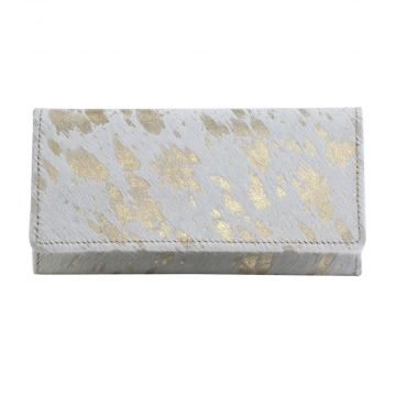 GOLDEN TERRAZZO  LEATHER AND HAIRON WALLET