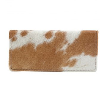 CAT FIGHT  LEATHER AND HAIRON WALLET