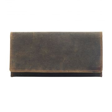 WOODS WANDERER LEATHER AND HAIRON WALLET