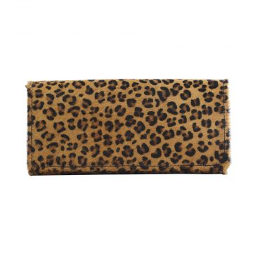 BOSS GIRL LEATHER AND HAIRON WALLET