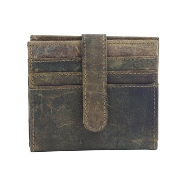 WILD WOODS LEATHER AND HAIRON WALLET