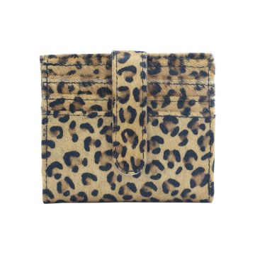 CRAZY LEOPARD  LEATHER AND HAIRON WALLET