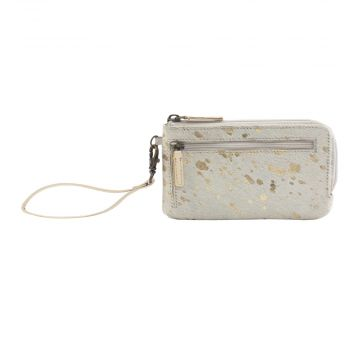SNOWY AFFAIR  LEATHER AND HAIRON WALLET